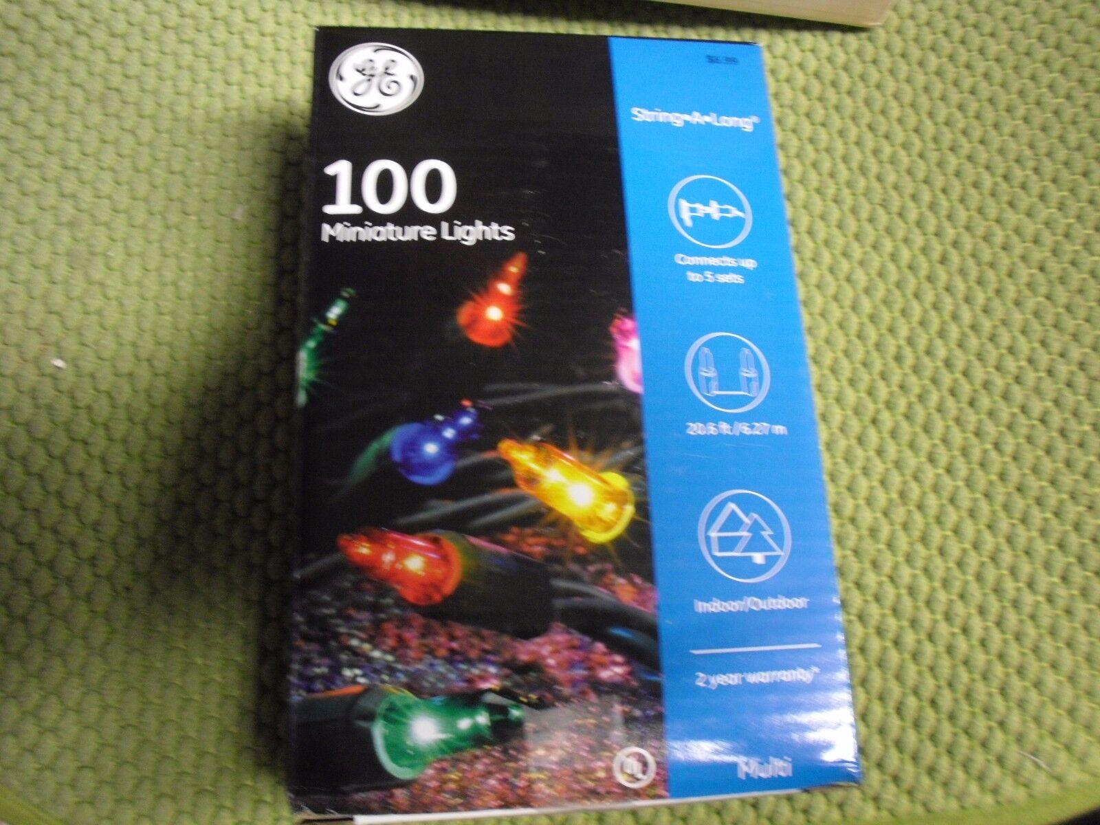 GE miniature lights String-A-Long 100-Light Green Wire Multi