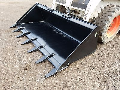 Brand New 72 Tooth Bucket Powder Coated For Skid Steer Loader - Free Shipping