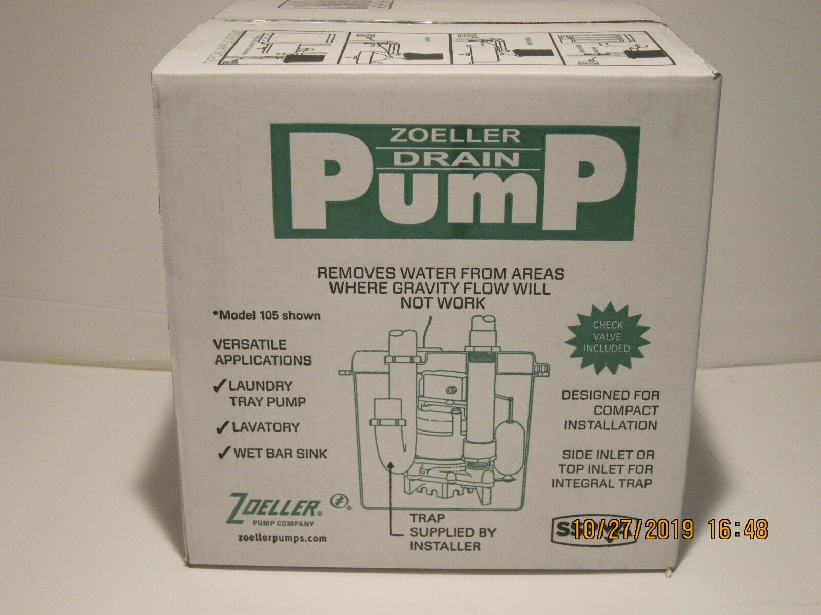 Zoeller 105-0001 Model 105 Drain Pump System with Sump Pump