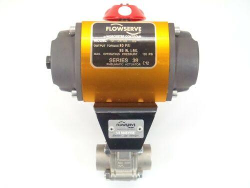 Flowserve 10 39 SN R6 Pneumatic Actuator w/ 1/4 B466YVSE Ball Valve