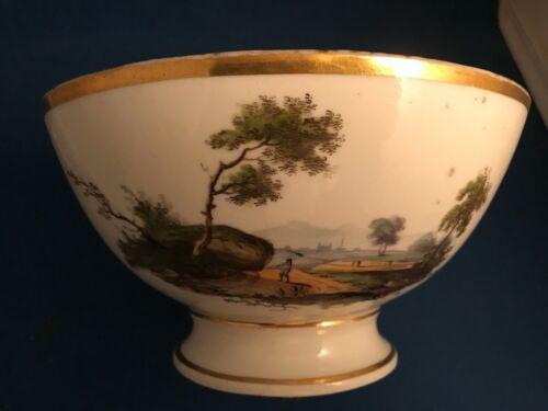 Tucker Hemphill Philadelphia Porcelain Waste Bowl Landscape Scene Early 19th C.