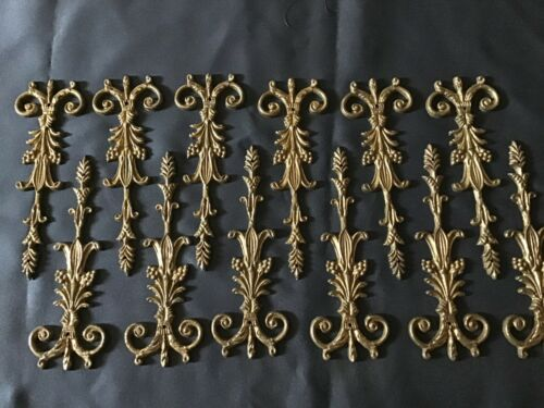 Antique Brass Applique Trim  Furniture Made in Italy.