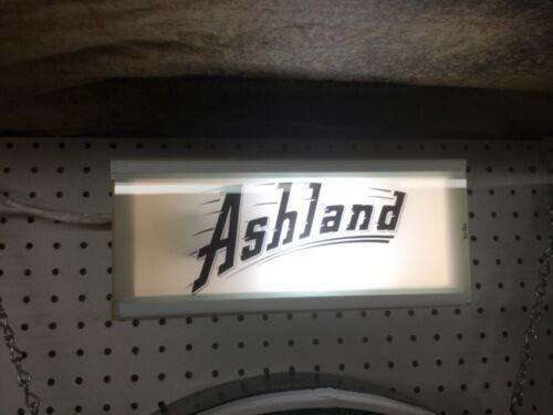ORIGINAL ASHLAND GAS PUMP AD GLASS PANEL LIGHTED DISPLAY BOX SIGN VALVOLINE