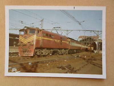 405 Farbfoto SÜDAFRIKA E-Lok E 756 in Durban 1970