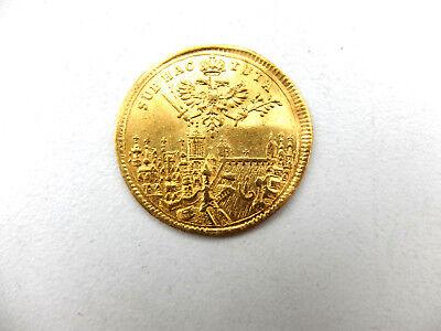 2 Dukaten 1711, auf die Krönung Karls VI. zum römischen Kaiser in Frankfurt GOLD