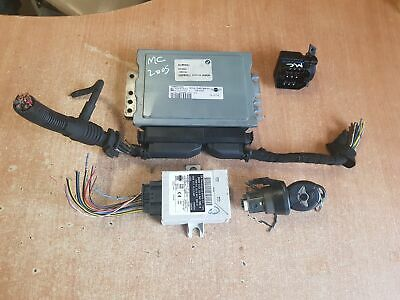 MINI COOPER 1.6 PETROL 2005 ECU KIT EWS IGNITION BARREL KEY 7545810