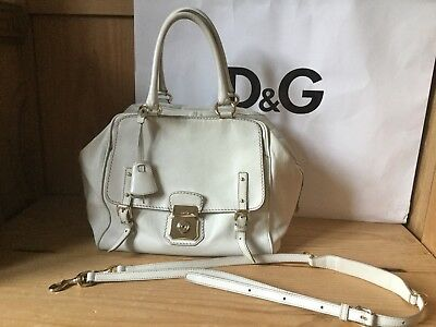 Dolce & Gabbana Tasche ⚜️ ALLYSON Doctorbag Doktortasche ⚜️ weiß Crossbody Leder