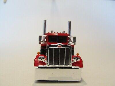 DCP FIRST GEAR 1/64 SCALE 359 PETERBILT SMALL BUNK, RED & BLACK SEMINOLE STRIPE 3
