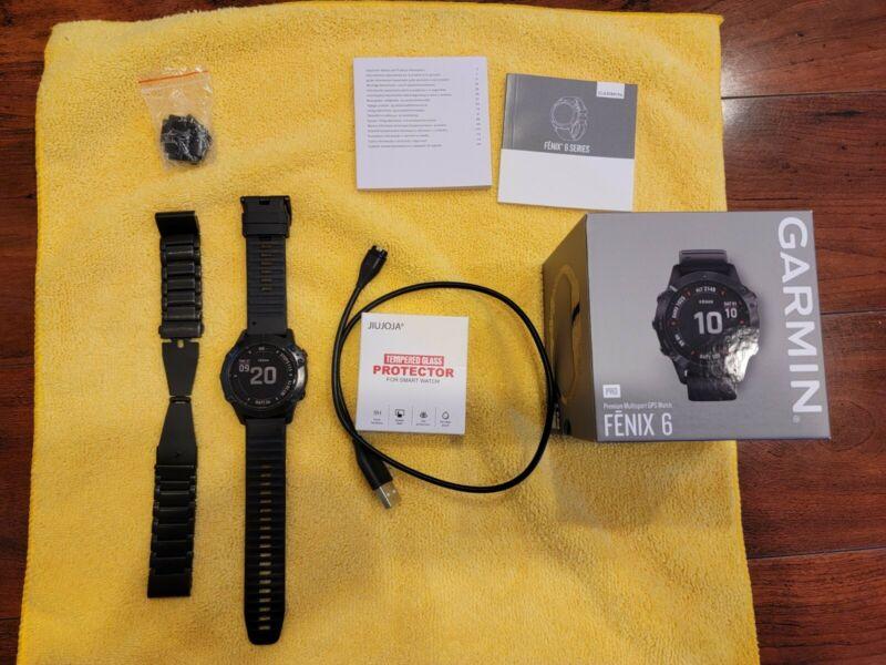 Garmin fenix 6 Pro Multisport GPS Smartwatch 47mm - Black Music with Extra