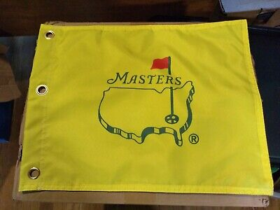 Masters Yellow Golf pin Flag New 13 x 18