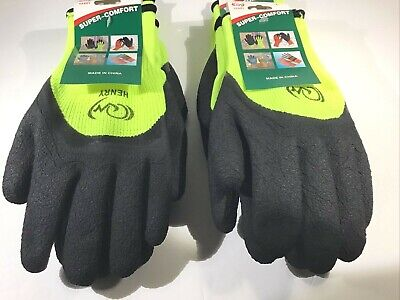 Safety Construction Latex Coated Winter Warm Gloves 4 Pairs One Size