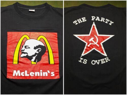 Vintage Mens L 80s 90s End Russian Communism Vladimir Lenin Party
