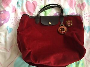 Longchamp Red Suede Bag Hillsdale Botany Bay Area Preview