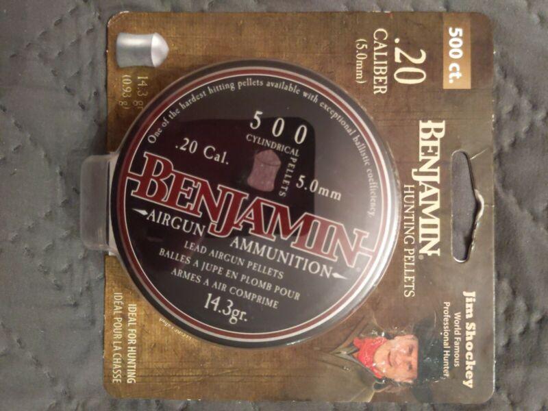 Airgun .20 cal / 5mm pellets 500 count- Benjamin hunting pellets