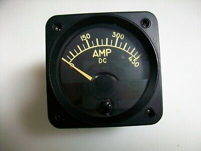Hickok 2 14 Square Panel Meter  Scale 0-450 A. Dc.  Fs50 Mv.