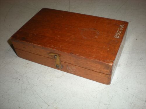 Christian Becker Weight Set - Wooden Box - Incomplete