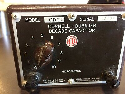Cornell-dubilier Cdc Decade Capacitor