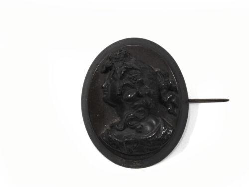 Rare special exquisite Victorian gutta percha cameo