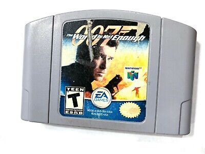 007 The World Is Not Enough - N64 James Bond Game Gray Tested Working Authentic