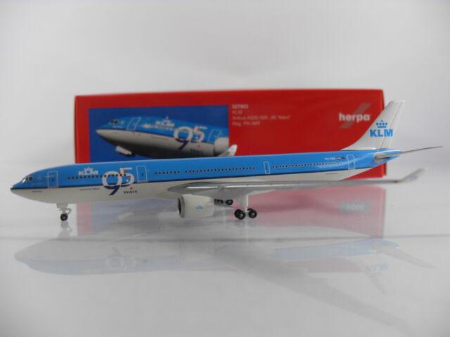 """Herpa Wings 1:500 KLM Airbus A330-300 """"95 Years"""" Reg.PH-AKF Artnr.527903"""