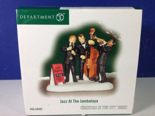 Dept 56 CIC Christmas in the City JAZZ AT THE JAMBALAYA 56.59482 Brand New RARE