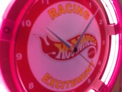 Hot Wheels Toy Car Truck Store Man Cave Advertising Neon Wall Clock Sign