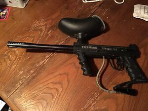Tippmann custom pro and hopper