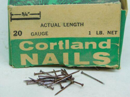 """4000 APROX - WIRE BOX NAILS #20 x 3/4"""" LONG PLAIN STEEL 5/64"""" HEAD DIAMETER ES"""
