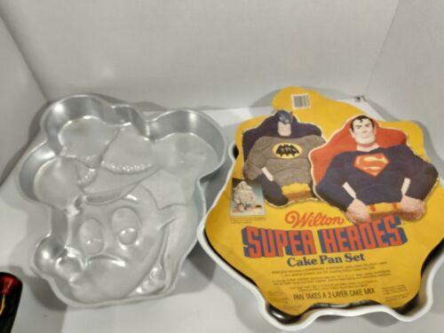 Wilton DC Comics Batman Superman Shaped Cake Pan & Mini Mouse Vintage 1981