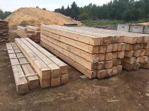 6x6  and 8x8 redpine timbers
