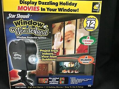 Star Shower Window Wonderland Christmas Halloween Movie Projector Kit 12 Movies