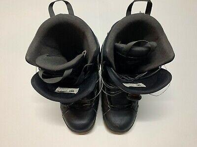 DC Emblem Black Boa Snowboard Boots Mans US9