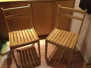 Two light medium wood sturdy dining chairs Clovelly Eastern Suburbs Preview