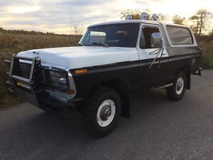 1978 FORD BRONCO 4x4 XLT RANGER  trade for newer 4x4