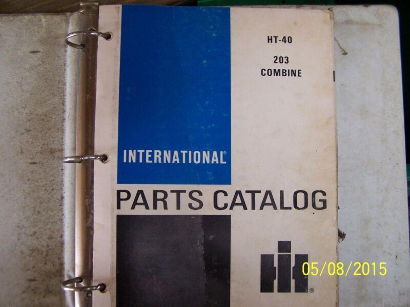 INTERNATIONAL  203 COMBINE PARTS MANUAL