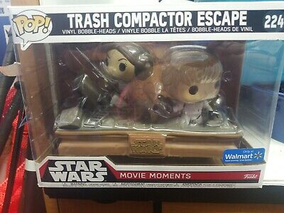 Funko Pop Movie Moments Star Wars Trash Compactor Escape 224 Luke SKYWALKER Leia