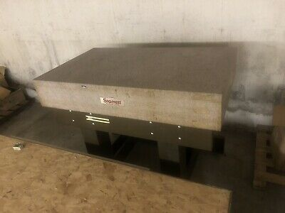 Starrett 36 X 60 Master Pink Granite Surface Plate 10 With Stand