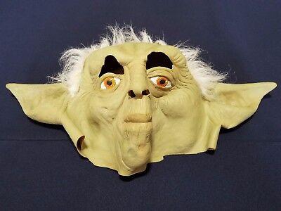 Yoda w/ Hair Latex Mask Jedi Master, ADULT Costume Accessory Star Wars Halloween