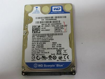 "Usado, Western Digital 160GB 5400RPM 2.5"" SATA Laptop Hard Drive WD1600BEVT Dell 0RM067 comprar usado  Enviando para Brazil"