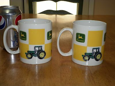 JOHN DEERE TRACTORS, With Tractor Images, Ceramic Coffee Cup / Mug, Total of # 2