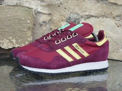 Adidas Originals New York UK 6.5 / US 7 Burgundy Gold OG CW spzl