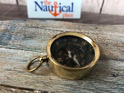 Just Silvertone Finish Pocket Compass Vintage Mini Maritime Compasses Antiques