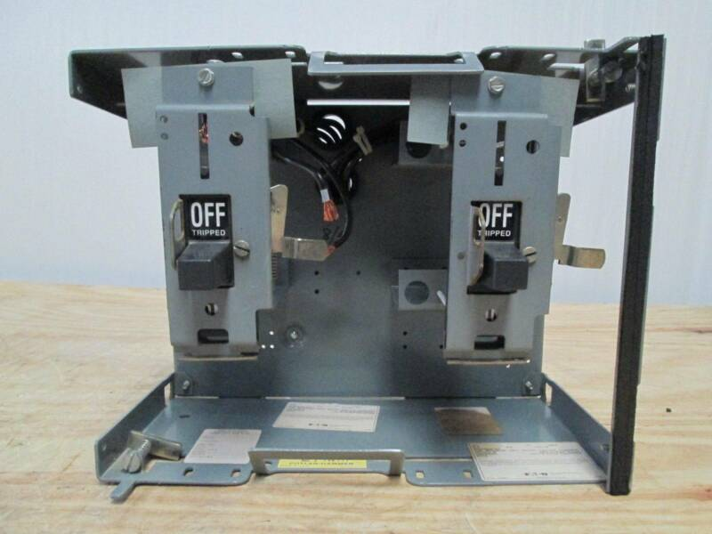 Cutler-Hammer Eaton Unitrol F10 60 & 30 Amp Dual Breaker Feeder MCCB MCC Bucket