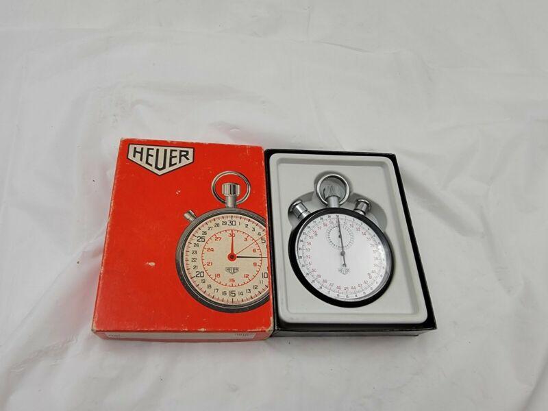 Heuer-Leonidas stopwatch 1960s WORKING