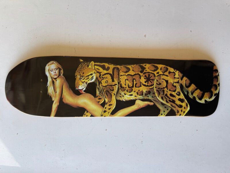 Vintage NOS 2005 Almost Panther Girl Shaped Deck Rare NSFW Rodney Mullen 9x31.5