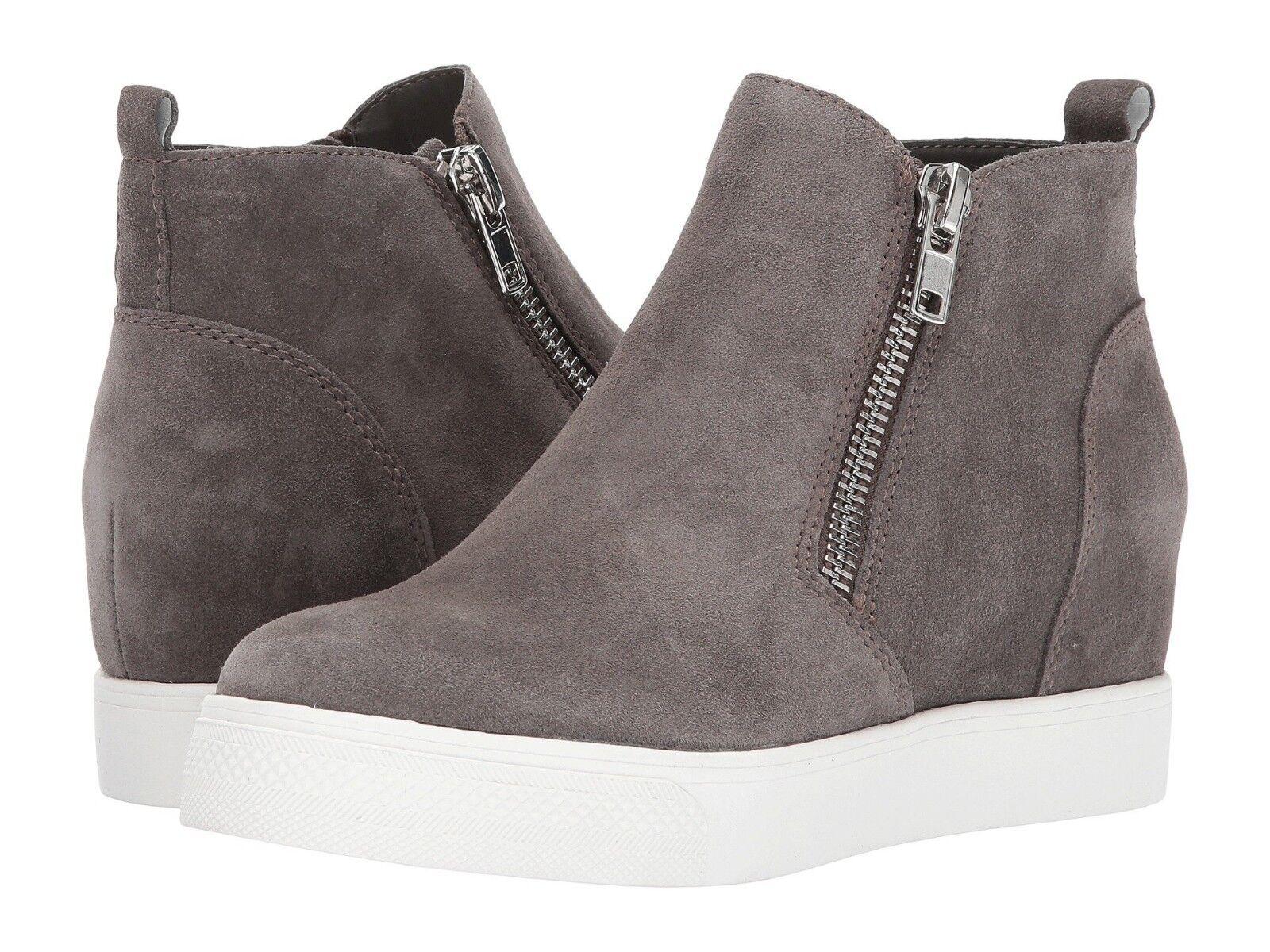 Steve Madden Women's Wedgie Sneaker Grey Suede