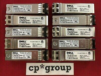 LOT OF 10 Genuine Dell WTRD1 10GBase-SR MMF SFP+ Transceiver