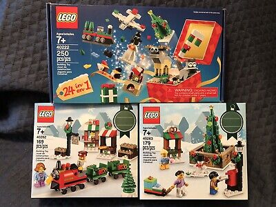 LEGO Christmas Train Tree Toy Lot 40222 40262 40263 New Sealed Winter Advent