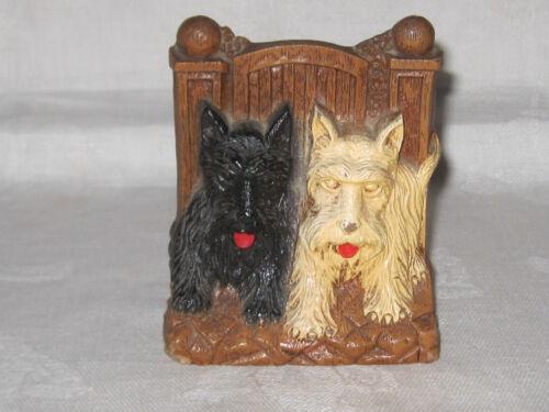 Vintage Swank syroco wood Scottie dog Scottish terrier figurine toothpick holder