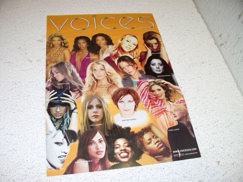 Voices CD Double Sided Promo Poster Flat 12 X 18 Destinys Child Martina McBride